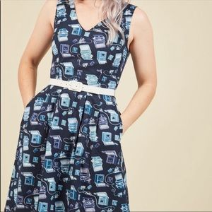 ModCloth Turn Back Timeless A-Line Dress in Typist